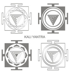 icon with kali yantra hinduism symbol vector image