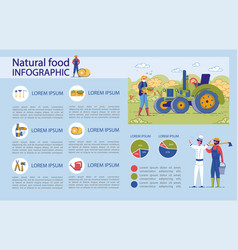 infographic elements set for natural organic food vector image