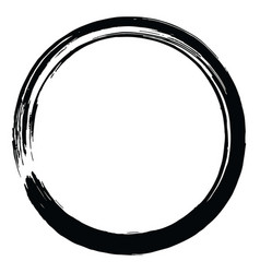 Japanese enso zen brush circle vector