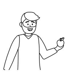 Man teacher school design vector