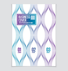 minimal flyer booklet annual report cover vector image