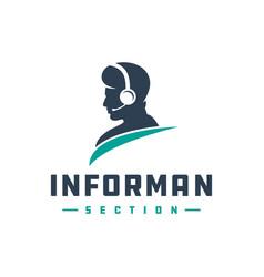 Modern logo design information provider vector