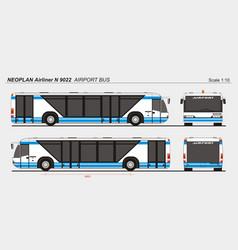 Neoplan airliner n 9022 airport passenger bus vector