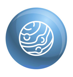 neptun planet icon outline style vector image