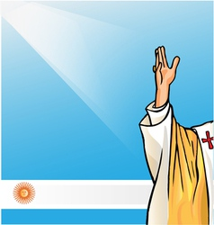 new pope with argentina flag vector image