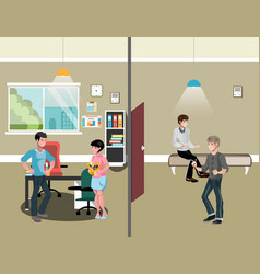 office interior workers in office vector image