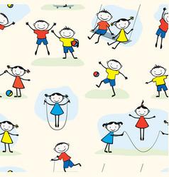 Pattern playing children vector