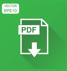 pdf icon business concept pdf format pictogram on vector image