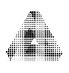 penrose tribar halftone vector image