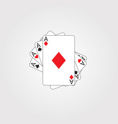 Playing poker cards vector