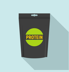 Protein package icon flat style vector