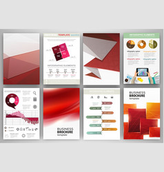 Red business backgrounds and abstract concept vector