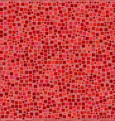 Red square mosaic pattern background vector