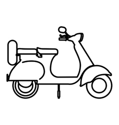 Scooter drawing isolated icon design vector