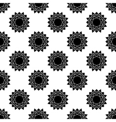 Seamless pattern with abstract sun flat vector