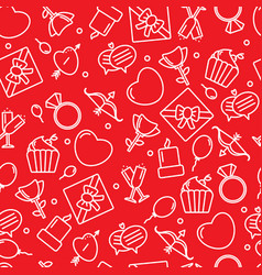 seamless pattern with heart and other signs vector image