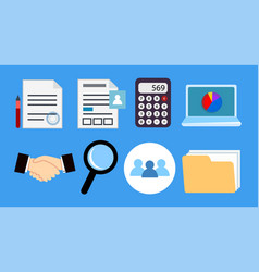 set accounting business icons for office vector image