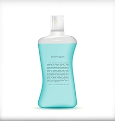 shampoo bottle vector image