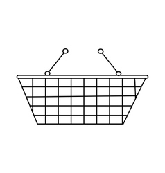 Shopping cart icon outline style vector image vector image