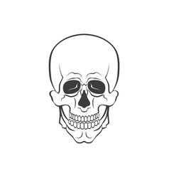 Skull modern or sign vector