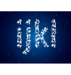 Snow letters over background vector