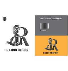 Sr-logo-template-design vector