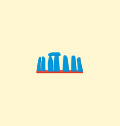 Stonehenge icon flat element vector
