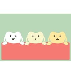 teeth whitening vector image