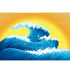 The waves and the sun vector image vector image