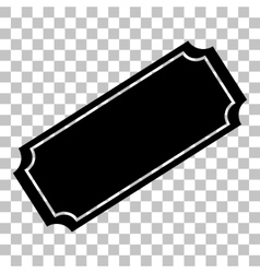 Ticket sign Flat style black icon on vector image