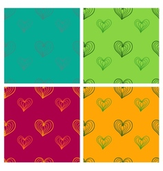 Valentine seamless pattern set vector