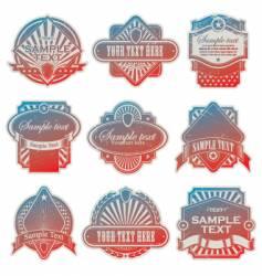 Vintage USA labels vector