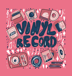vinyl record concept color vector image