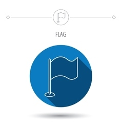 Waving flag icon Location pointer sign vector image