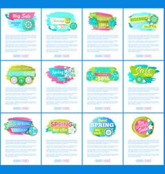 Web pages sale advertisements templates vector