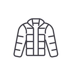 winter jacketdownjacketoutdoor clothes vector image