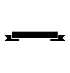 black ribbon banner decoration ornament vector image vector image