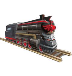 demonic train vector image