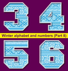 winter abc 08 vector image vector image