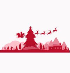 winter red holidays landscape vector image