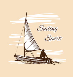 competitions of boats on the water vector image vector image