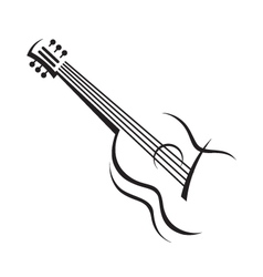 image of guitar vector image vector image