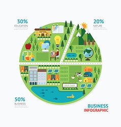 Infographic business graph shape template design vector image vector image