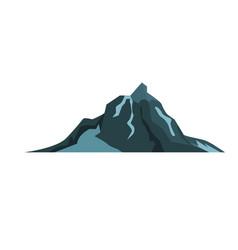 Mountain landscape snow nature travel hiking peak vector