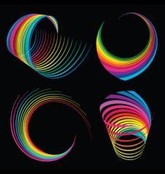 rainbow ribbons vector image