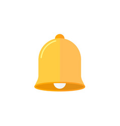 Bell flat icon education and school element vector
