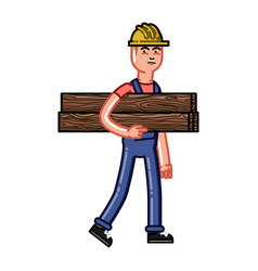 builder bears timber vector image vector image