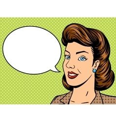 Businesswoman talks pop art retro vector image vector image