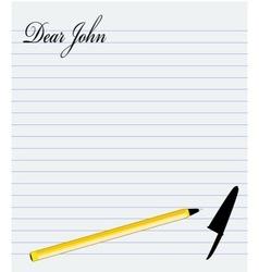 Dear John vector image