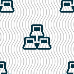 local area network icon sign Seamless pattern with vector image vector image
